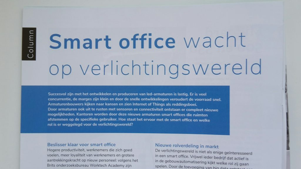 smart office, internet of things, led, sensoren, gebouwautomatisering