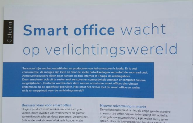 smart office, internet of things, led, sensoren, gebouwautomatisering